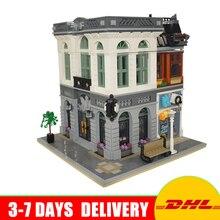 DHL Livraison En Stock Lepin 15001 Brique Banque Modèle Kits de Construction Blocs Briques Kits Jouets Modèle Cadeaux Compatible 10251