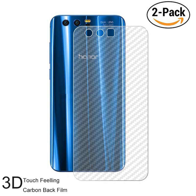 2PACK 3D Carbon Fibre Skin Sticker Back Film For Huawei P8 Lite 2017 Screen Protector For P10 P9 Plus Honor 8 9 Lite (Not Glass)