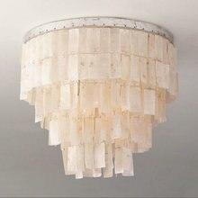 Amerikanischen Land Natrlichen Schale Deckenleuchte Dekoration Beleuchtung Wohnzimmer Schlafzimmer Lampe Lustral Lamparias E12