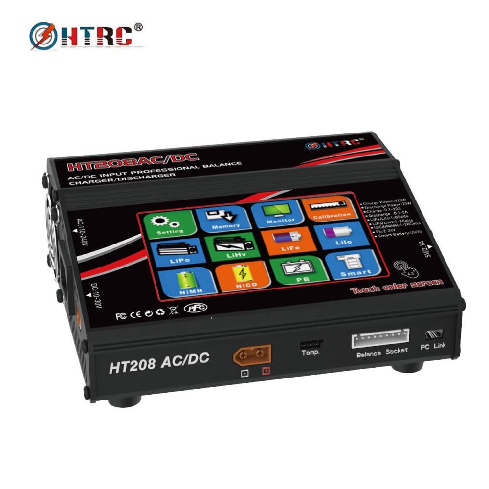 HTRC HT208 AC/DC 4.3 Couleur LCD Écran Tactile 420 w 20A RC Équilibre de La Batterie Chargeur/Déchargeur pour 1-8 s Lilon/LiPo/LiFe/LiHV Batterie