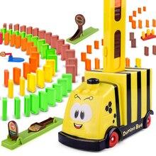 Finger Rock автоматическое размещение 100 шт. домино кирпич поезд автомобиль со светом Звук развивающий строительный блок DIY игрушки домино игра