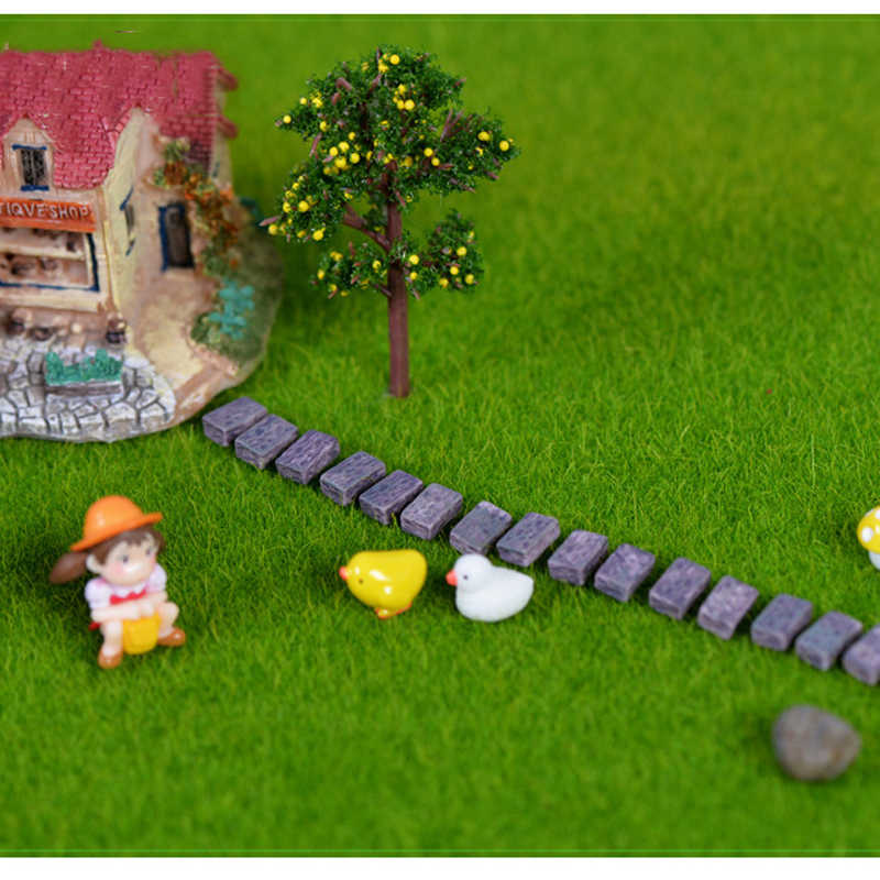 nautical garden decor.htm 10pcs resin stone wall brick fence accessories figurines toys  10pcs resin stone wall brick fence