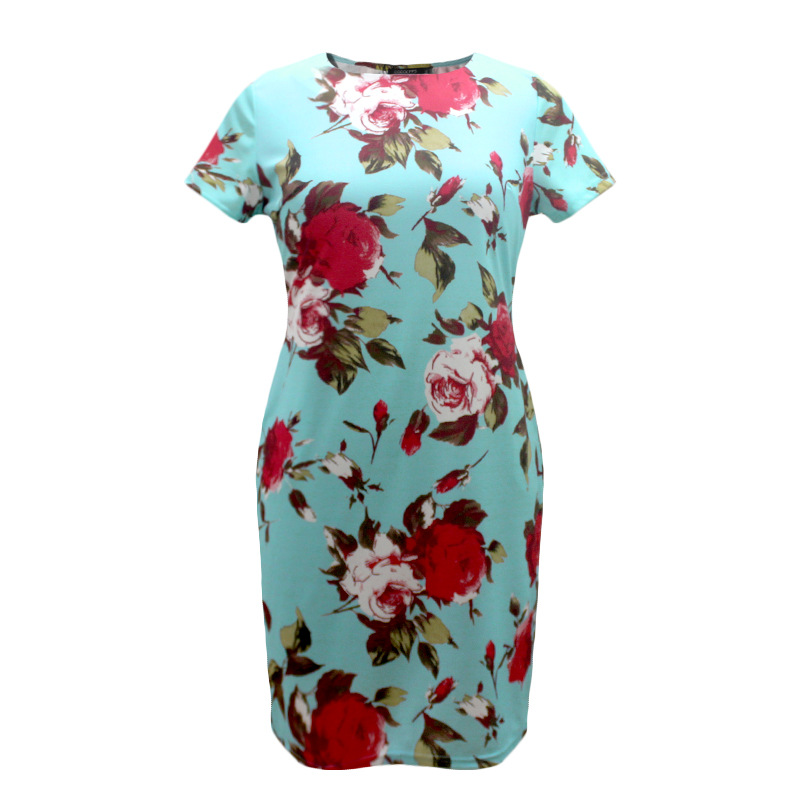HTB1JYmNXo6FK1Jjy1Xbq6xovXXax 2019 Autumn Plus Size Dress Europe Female Fashion Printing Large Sizes Pencil Midi Dress Women's Big Size Clothing 6XL Vestidos