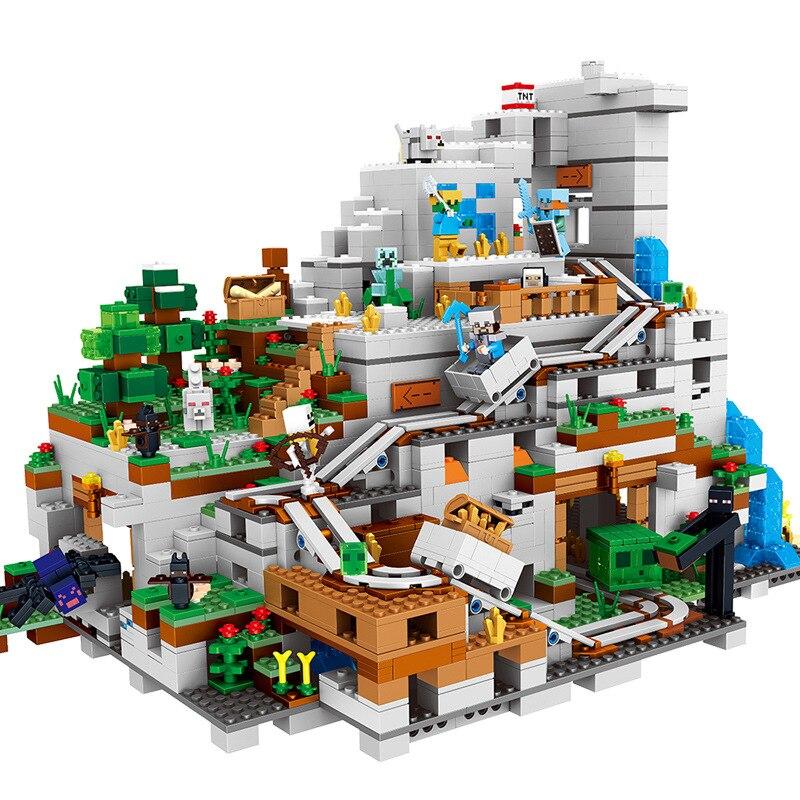 2888 + pcs MON MONDE La Montagne L'autorité Grotte Compatible Legoinglys Minecrafted Chiffres Blocs De Construction Briques Ensembles
