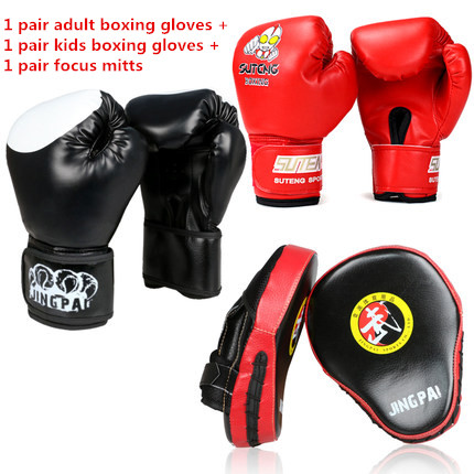 MMA Thai Strike Kick Shield Training Punching Focus Mitts Target Adult Kids Kick Boxing Gloves