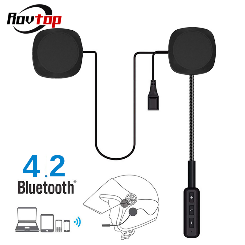 Motorcycle Helmet Earphone Handsfree-Speaker Call-Control Bluetooth EDR 2 Dual-Visor