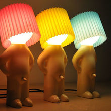 Naughty boy Mr P a little shy man creative lamp small night lights night lights home decoration nice gift cheap QUASHION Atmosphere Figure WDSNL007 Incandescent Bulbs Switch 90-260V Holiday 11-15W NONE
