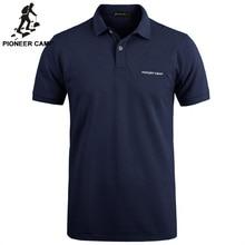 Pioneer Camp einfarbig Atmungs Klassische herren Polo Shirt Marke Kleidung der Männer der Kurzen ärmeln Freizeit Polo Shirt 409010