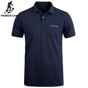 Image 1 - Pioneer Camp solid Color Breathable Classic Mens Polo Shirt Brand Clothing Mens Short sleeved Recreational Polo Shirt 409010