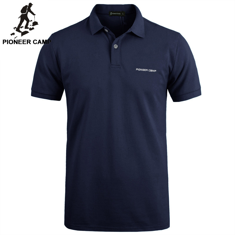 Pioneer Camp solid Color Breathable Classic Men's   Polo   Shirt Brand Clothing Men's Short-sleeved Recreational   Polo   Shirt 409010