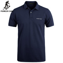 Pioneer Camp solid Color Breathable Classic Men's Polo Shirt Brand Clothing Men's Short-sleeved Recreational Polo Shirt 409010(China)