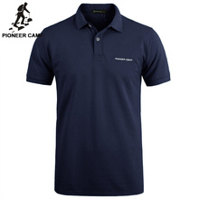 Pioneer Kamp Effen Kleur Ademend Klassieke Heren Polo Shirt Merk Kleding Mannen Korte Mouwen Recreatieve Polo Shirt 409010
