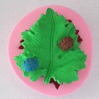3D Coccinella foglie muffa del sapone stampi torta fondente del sapone della muffa del cioccolato per la cottura della cucina Decorativo Sapone Stampi SM220
