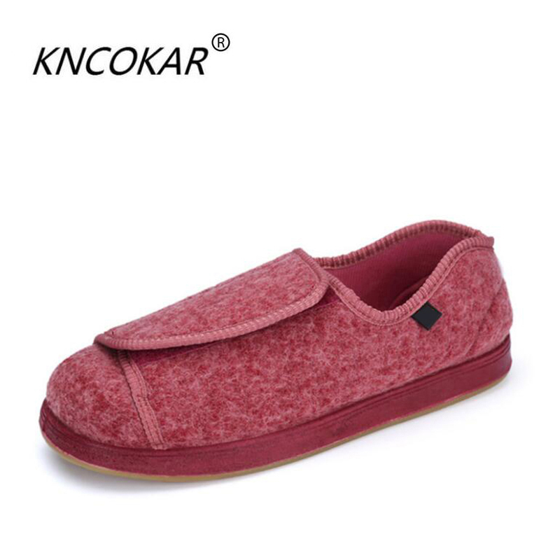 Basic Boots 100% Quality Kncokar 2018 Hot Sales Mens Shoes Are Cozy Adjustable And Wide Cotton Cloth Shoes Suitable For Foot Swollen Feet And Fat Feet