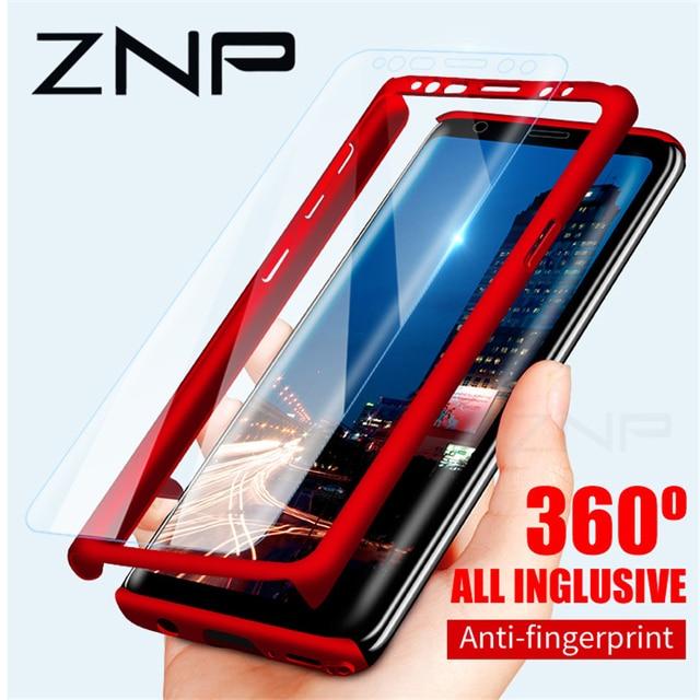 ZNP 360 Degrés Antichoc Cas de Téléphone Pour Samsung Galaxy S9 S8 Plus Note 8 9 Couverture Shell Pour Samsung S7 bord S8 Protection Cas