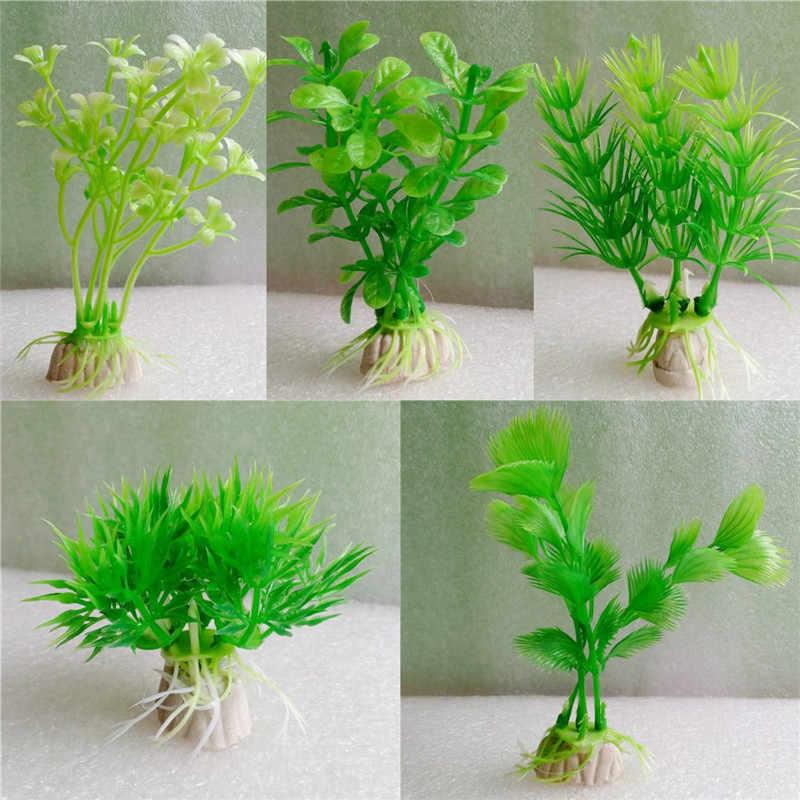 1 adet Plastik Akvaryum Bitkileri Wonder Çim Süs Dekor Peyzaj Balık Tankı için