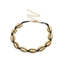 Fashion Bohemian Shell Short Chain Necklace Women European Handmade Gold & Silver Alloy Choker Jewelry 2019