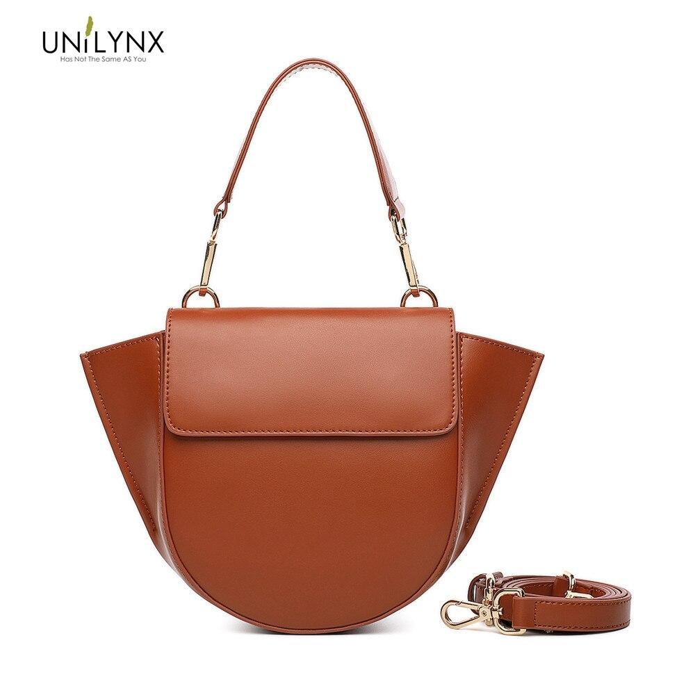 UNILYNX Women Messenger Bags Leather Handbags Female Designer Bag Vintage Tote Shoulder Bag High Quality bolsos Crossbody Bags