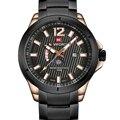 Mens Relógios Top Marca de Luxo Homens de Negócios do Relógio NAVIFORCE Fase Da Lua de Aço Inoxidável relógios de Pulso de Quartzo Relogio masculino