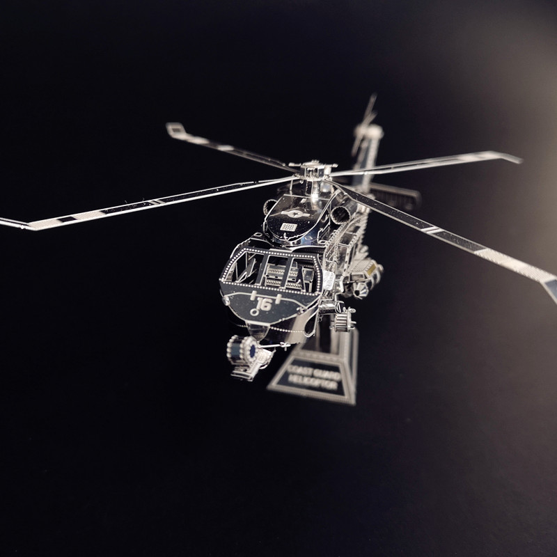 PENYELAMBUNG TANAH HELICOPTOR NANYUAN D12201 Teka-teki 3D DIY - Teka-teki - Foto 4