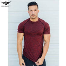 KORKSLORES quality Gyms Compression T-Shirt Workout Crossfit TShirt Fitness Slim Tights Shirts men Quick Dry Breathable Clothing