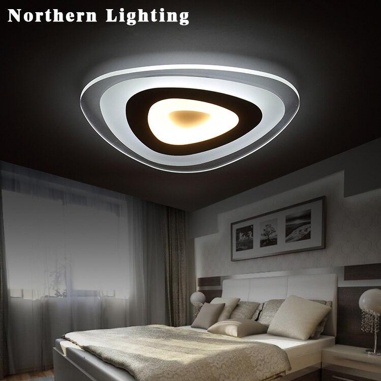 Controle remoto sala de estar quarto luzes de teto modernas levaram luminarias pará sala escurecimento conduziu a lâmpada do teto deckenleuchten