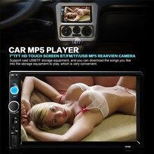 """2 Din Radio Del Coche MP5 Jugador 7 """"HD de Pantalla Táctil Bluetooth Teléfono Stereo Radio FM/MP3/MP4/Audio/Video/USB Electrónica de Automóviles En El Tablero"""