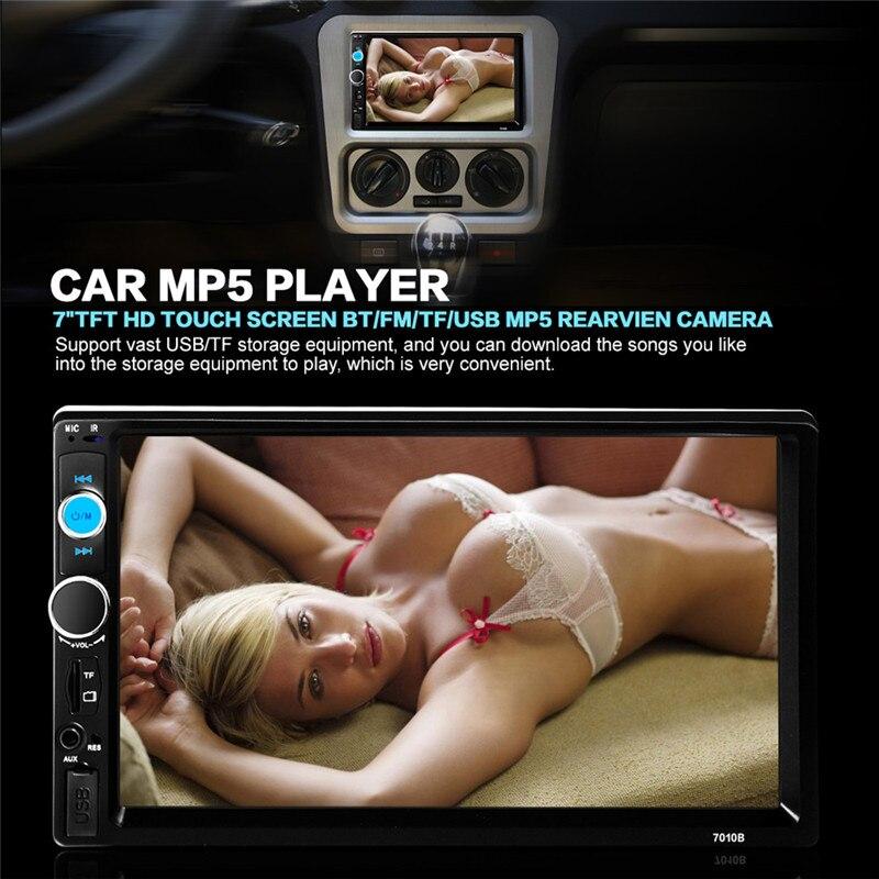 imágenes para 7010B 2 Din Radio de Coche Reproductor MP5 Teléfono $ NUMBER ''HD de la Pantalla Táctil de Bluetooth de Radio Estéreo FM/MP3/MP4/Audio/Video/USB Electrónica Automotriz
