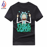 Euro Size 100 Cotton Men S Anime Rick And Morty Print Tshirt Men Free Rick T