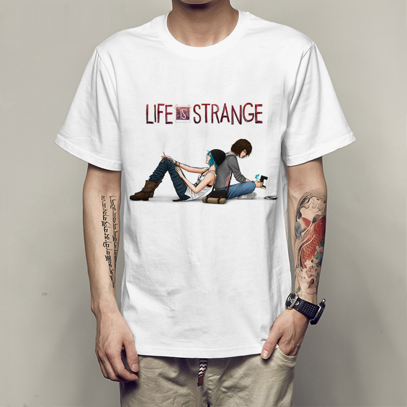 2017 Newest Summer Cartoon Character Life Is Strange Print T Shirt Creative Hipster Lover T-Shirt Short Sleeve Clothes Chic Tops