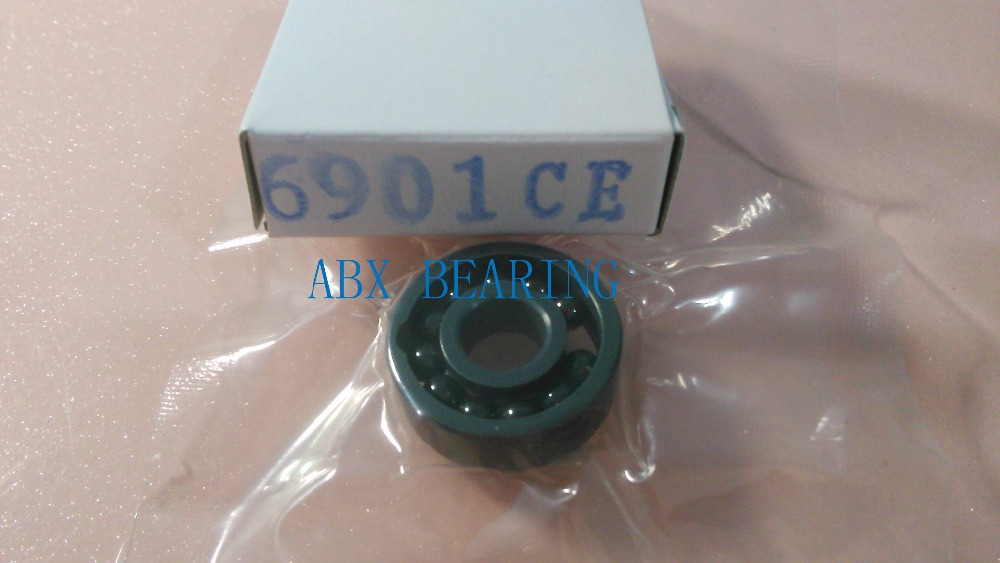 6901 full SI3N4 ceramic deep groove ball bearing 12x24x6mm full complement 61901 best price 10 pcs 6901 2rs deep groove ball bearing bearing steel 12x24x6 mm