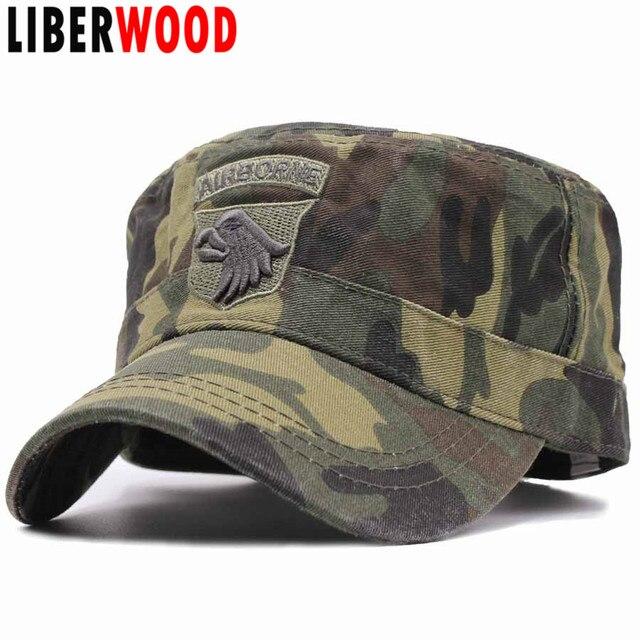 2a19d27bba3 LIBERWOOD US Tactical Hats 101ST AIRBORNE SCREAMING EAGLE Cap Air Force Baseball  caps for Men Cotton