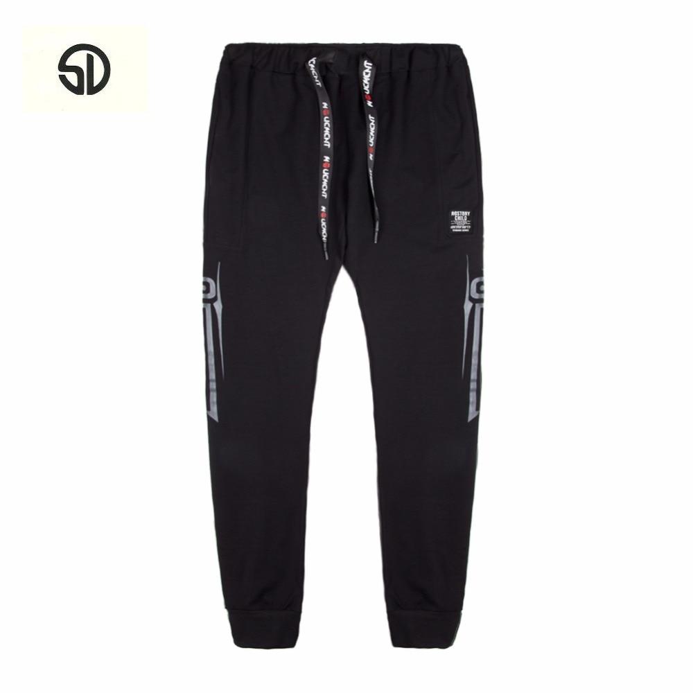 Europe Size Casual Trousers Full Length Fashion Sweat Pant Men Hip Hop Street Cotton Men Pants Straight Long Elasticity Classic
