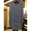 2016 hombres tank tops ropa de hip hop kanye west Yeezy Heather Gris/Rosa de algodón cremallera lateral de Oro yeezy Tour chaleco de la ropa