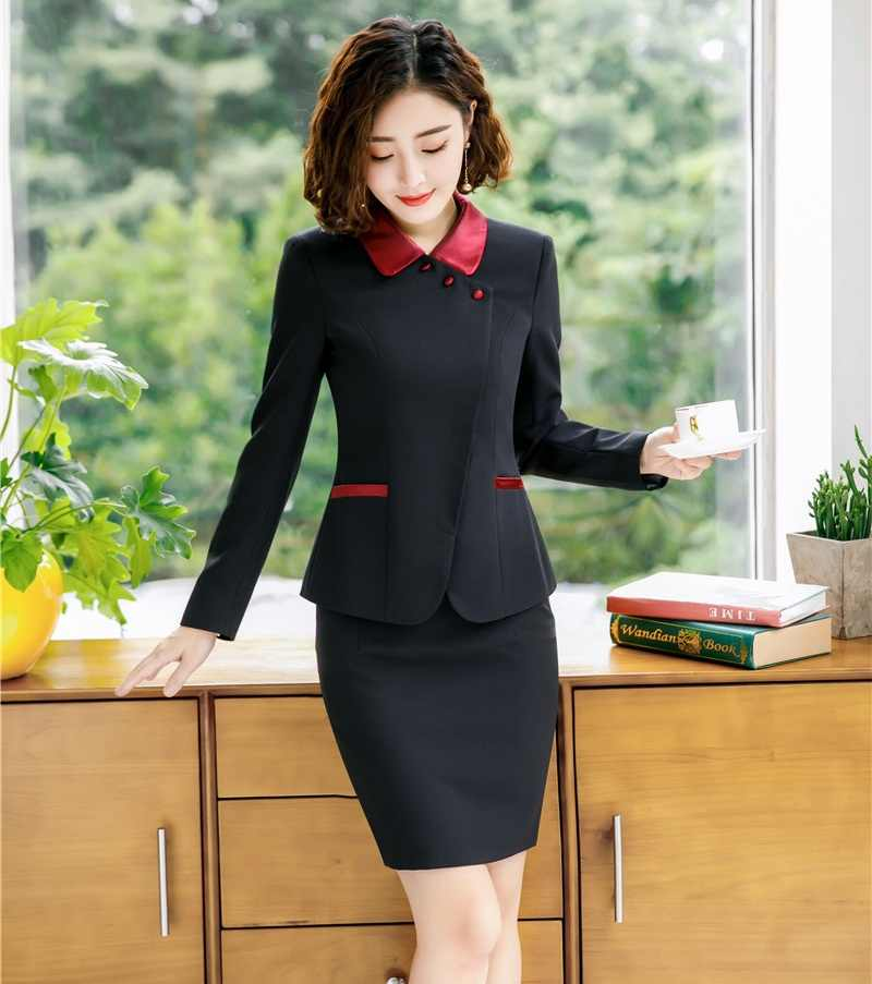 c162e6361bf3 New 2019 Summer Formal Elegant Women s Blazers Skirt Suits Women Business  Suits with Skirt and Jacket