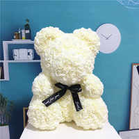 2019 new 25/40cm with Heart Big Red Teddi Bear Rose Flower Artificial Decoration Christmas Gifts for Women Valentines Gift