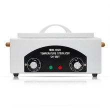 Nail Art Equipment High Temperature Sterilizer Box With Hot Air - Disinfection Cabinet For Tool Eu Plug