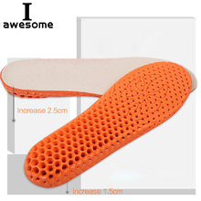 Breathable Honeycomb Height Increase Shoes Insoles for Men Women Reduce Muscular Ache Pain Insert Lift Taller Insole Pads