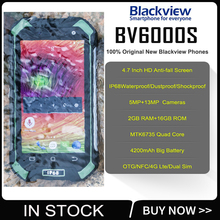 New arrival Blackview BV6000S IP68 Waterproof Mobile Phone Android 6.0 MTK6737 4.7″ 4G LTE 2GB+16GB 4200mAh GPS+Glonass