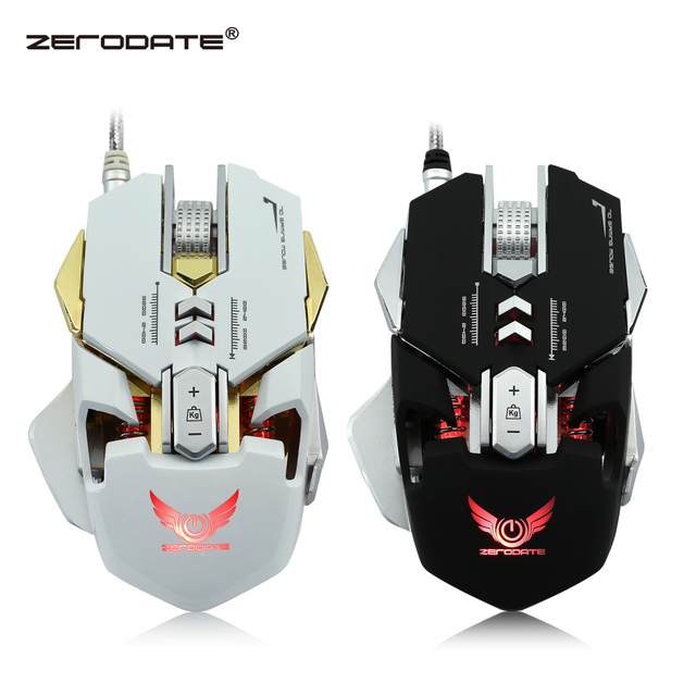 ZERODATE  3200DPI USB Wired Competitive Gaming Mouse  7 Programmable Buttons Mechanical Macro Definition Programming Game Mice
