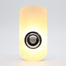 3 في 1 تصميم 110 فولت 220 فولت الاتحاد الأوروبي الولايات المتحدة التوصيل PIR الحركة LED ضوء الليل اللاسلكية قابلة للشحن مصباح يدوي للطفل غرفة الطفل الطوارئ