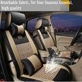 Nuevo estilo de Cuero de Lujo Del Asiento de Coche Cubiertas Delantera y Trasera Conjunto Completo Universales para Audi A1 A4 A6 A7 A8 Q3 Q5 Q7 TT Four Season