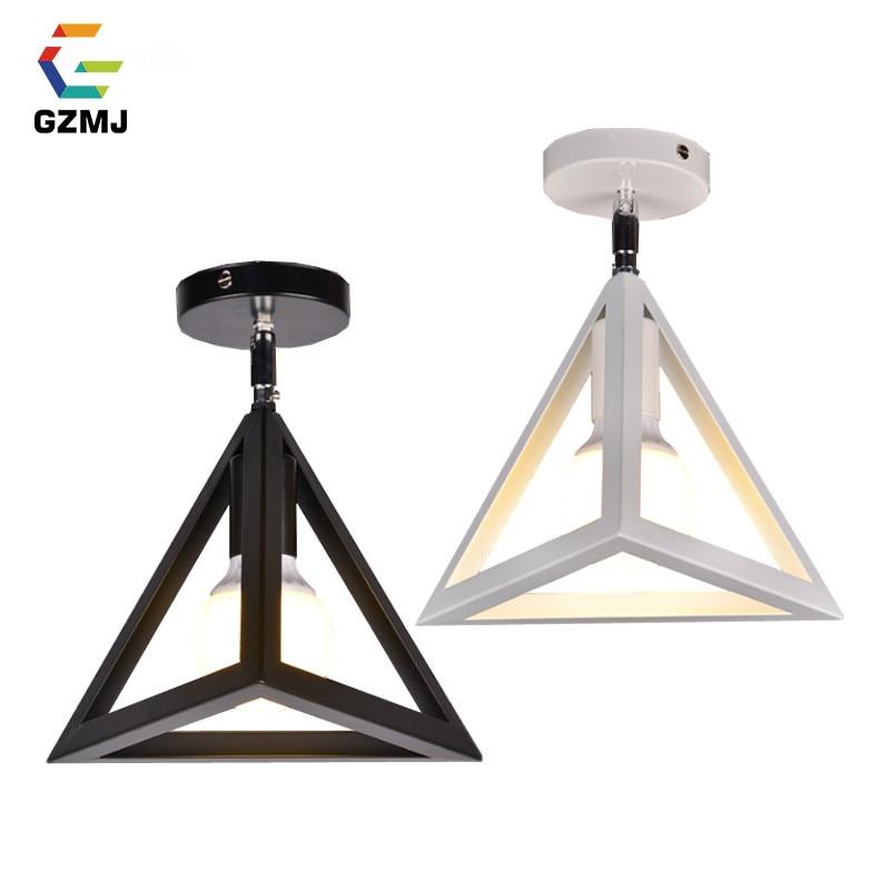 GZMJ Vintage Metal LED Ceiling Lights 110-240V Retro Iron Loft Ceiling Lamp for Bedroom Foyer Dining Room Bar E27 Light Fixture