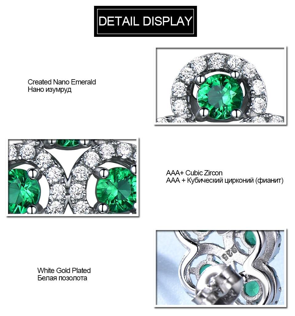 Emerald stud earrings for women UMCHO (6)