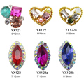 10pcs crystal jewelry nails art dekor glitter crown nailart gem strass rhinestones charms for nail art decorations Y468-Y475