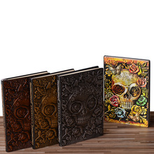 3D Carved Color Embossed Notebook  A5  School Stationery and Office Supplies Magazine Travel Diary Halloween Gift Free Shipping цена