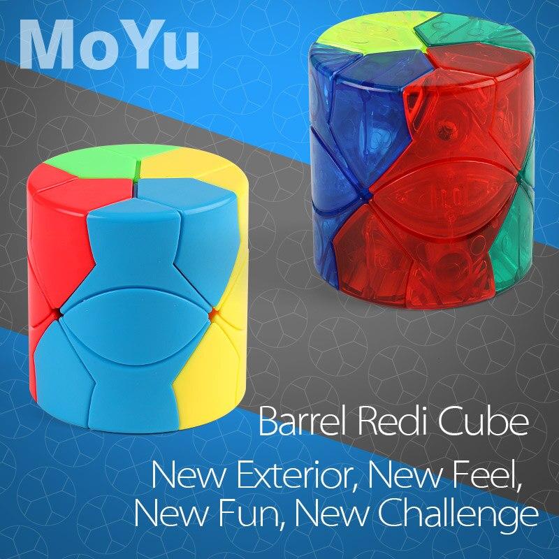 Newest MoYu MoFangJiaoShi Barrel Redi Magic Colorful Puzzle Speed Cube Professional Triangle Shape Twist Educational Kid Toys