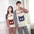 2016 Women Summer Lovers Couple Sleepwear 100% Cotton Character Pijama Men Shorts Women's Lounge Couple Pajama Set Plus Size 4XL