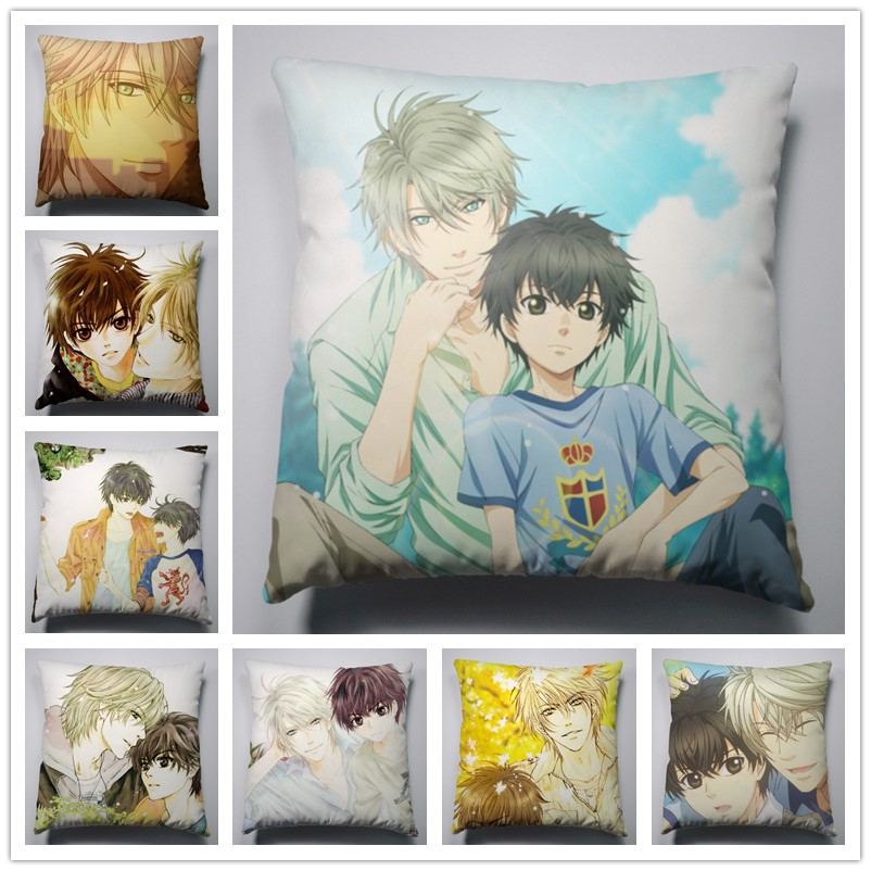 Anime Manga Super Lovers Silk Pillowcase40x40cm Cushion Pillow Case Cover Seat Bedding 002 Pillow Case Pillow 40x40cmanime Pillow Cushion Aliexpress