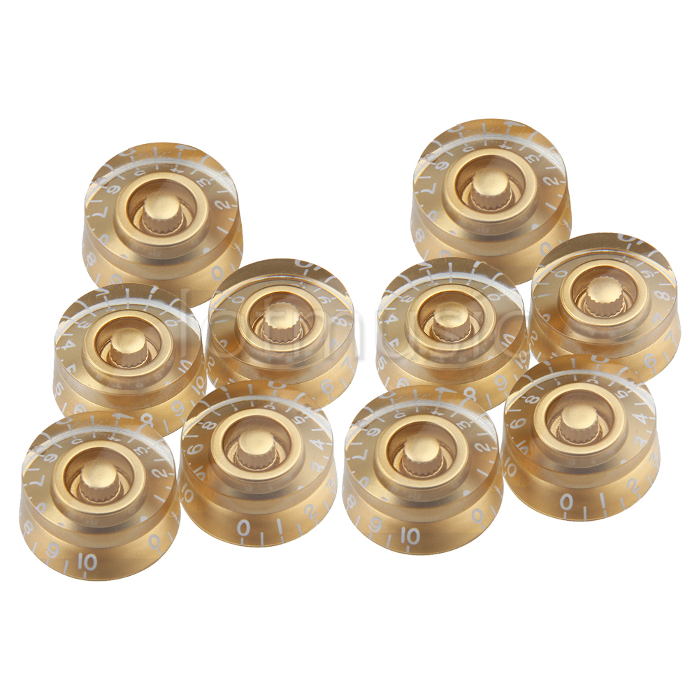 30PCS Gold Speed Guitar Control Knobs for Electric Guitar Replacement Parts yibuy 40x speed control knobs gold with white number for electric guitar